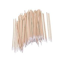 Segolike Lot 200 Cotton Swabs Wood Sticks Make Up Applicators Salon Cotton Buds 10cm