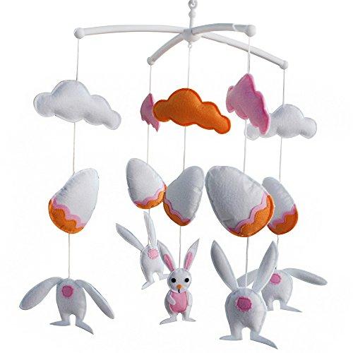 Jouets pour bébés, berceau rotatif mobile, [Hide and Seek] Super Cute Decor