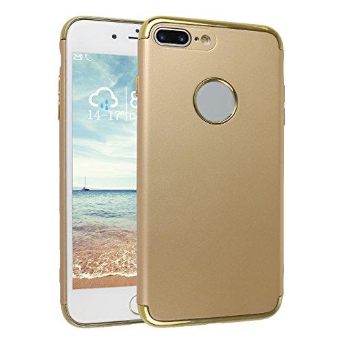 Coque Pour iPhone 7 Plus, Asnlove PC Hard Cover Dur Couleur Pure Housse Ultra Mince Cas Rigide Étui Mode Case Pour iPhone 7 Plus - Rouge Or