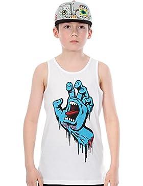 Camiseta Sin Mangas Para Niño Santa Cruz Sprayed Hand Blanco (12-14 A , Blanco)