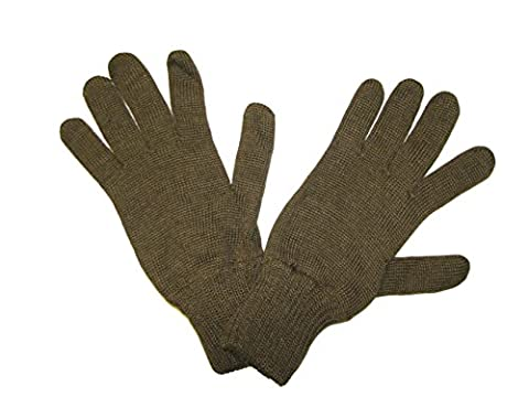 Genuine CZECH Army Issue Combat Winter Knitted Wool Gloves - Olive Green