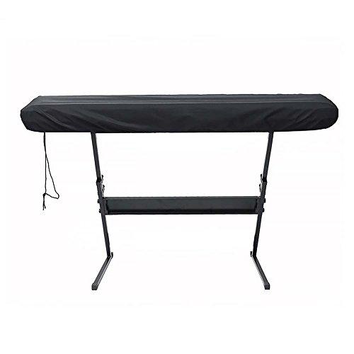 Staubschutz für Elektronik-Klavier Tastatur, Schwarz Tastatur-Schutzabdeckung, staubdicht, langlebiger Schutz für 66/88 Tasten Piano