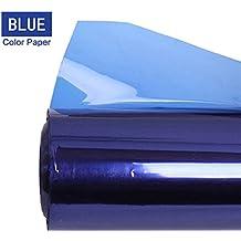 Selens 40x50cm Color Gel Filtro Papel para Luz de Estudio Luz de Cabeza Roja Foco Fotografía - Azul