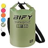 BIFY Dry Bag 5L/10L/15L/20L/25L/30L/40L 7 Farbe Leicht Wasserdichter Packsack/Wasserdichte Tasche/Trockensack lang Schulter Verstellbarer Schultergurt für Boot Kajak Wassersport Treiben