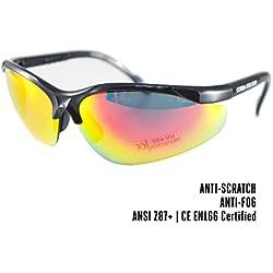 Cobra | lunette de protection airsoft, tir sportif | lunette de sécurité | lunette tactique militaire | verre ultra-résistant, anti-buée et rayures | léger et confortable | homme et femme