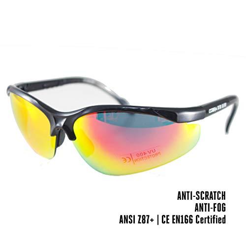 COBRA | Gafas de Seguridad para Airsoft | Gafas de Protección Tiro Deportivo y Otros Deportes | Gafas Tácticas Militares | Cristal Ultra-Resistente, Antivaho y Anti-rayas | Ligeras y Cómodas