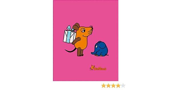 BERONAGE Die Sendung mit der Maus Decke Maus Flower Rosa//Pink 130 cm x 170 cm Flanelldecke Fleecedecke Kuscheldecke zur Bettw/äsche kuschelweich