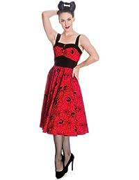 Hell Bunny Kleid BLACK WIDOW DRESS