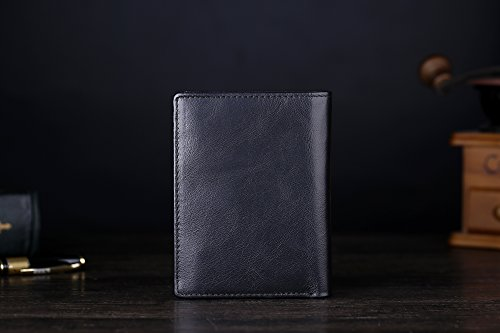41frQH2FpPL - Cronus & Rhea® | Luxury wallet with coin pocket made of exclusive leather (Charon) | Wallet - Wallet - Wallet - Money Clip | Real leather | With elegant gift box | Men