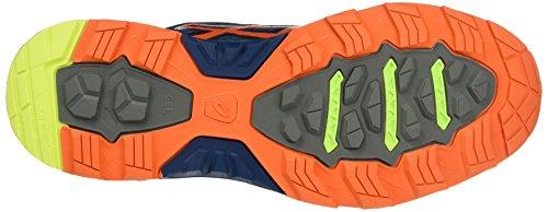 Asics Gel-Fujitrabuco 5, Chaussures de Course Homme Bleu (Poseidon/Flame Orange/Safety Yellow)