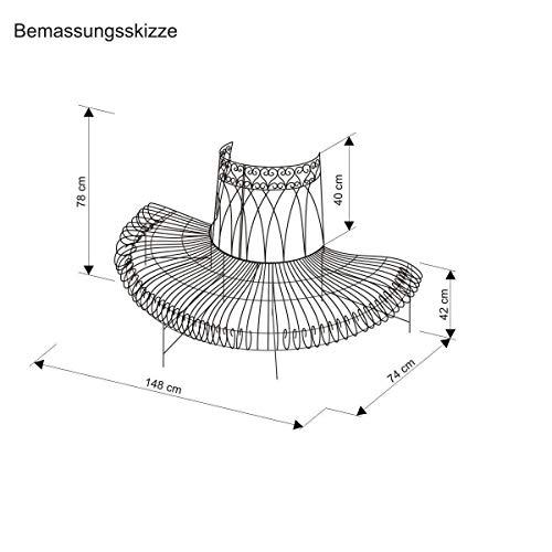 Halbrunde Baumbank aus Eisen – Gartenbank Baumbank - 3