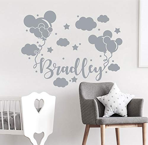 Vinyl Benutzerdefinierten Namen Applique, Baby Boy Applique, Boy Room Decor, Kinderzimmer Kinderzimmer Dekor, Mode Disney Decal 75 * 57cm - Disney Boy Wandtattoos