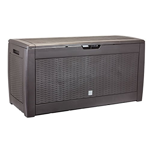Prosper Plast MBRP290 119 x 48 x 60 cm Boxe Rato Plus Garden Container – Dark Brown