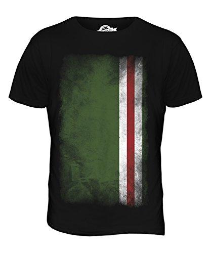 CandyMix Tschetschenische Republik Itschkerien Verblichen Flagge Herren T Shirt Schwarz