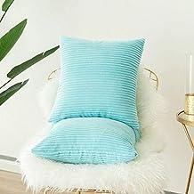 Paquete de 2, meile Kord terciopelo Soft Solid decorativa cuadrado Juego Fundas de almohada de lanzamiento Cojín Caso para sofá dormitorio Auto 18 * 18 ...
