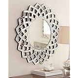 "Venetian Design Colton Modern Round Wall Mirror Diameter 30"""