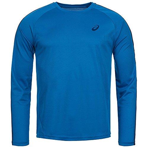 Asics Essentials Langärmel Herren Laufen Trainingsshirt Tee Blue