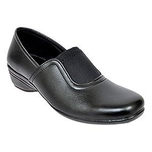 Altek Black Synthetic Formal Shoe For Women (Size : 37 Euro, 7 Ind/Uk) Model: ALTEK_13_302