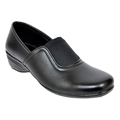 Altek Black Synthetic Formal Shoe For Women (Size : 37 Euro, 7 Ind/Uk) Model: ALTEK_13_302
