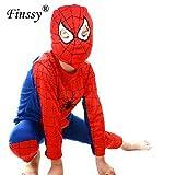 Lightsalt Película Rojo Negro Spiderman Disfraz para niño Batman Superman Cosplay Disfrac