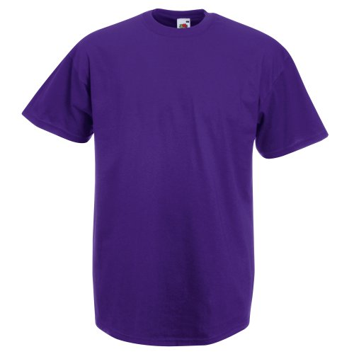 Fruit Of The Loom Herren Kurzarm T-Shirt XXL,Lila (Herren Für Lila Shirt)