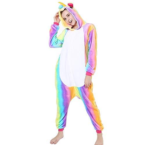 Kostüm Sleepsuit Ganzkörper Tier für Erwachsense Plüsch Einteiler Overall Jumpsuit Pyjama Schlafanzug Unisex Pyjama viele Tiere zur - Esel Kostüm Drache