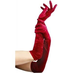 Gants longs rouges femme