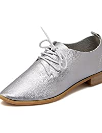 NJX/ hug Zapatos de mujer-Tacón Plano-Comfort / Puntiagudos-Planos-Exterior / Casual-Semicuero-Negro / Blanco / Bermellón , black-us7.5 / eu38 / uk5.5 / cn38 , black-us7.5 / eu38 / uk5.5 / cn38