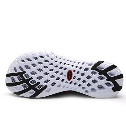 iLory Chaussures deau Water Shoes Chaussons pour Sport Aquatique de plage pour femme et homme bleu marin