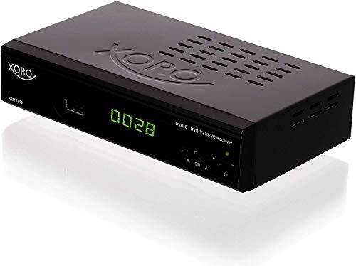 "Xoro HRM 7619 Full HD ""HEVC DVB-T/T2/C"" Kombi Receiver (HDTV, HDMI, SCART, Mediaplayer, USB 2.0, LAN) schwarz"