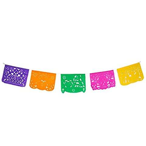 Authentic day of the dead mexican papel picado (paper) - Mexican dia de muertos banners - mexican
