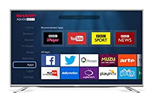 Sharp 55-Inch Widescreen 3D 1080p Full HD Smart TV with Freeview HD - Silver