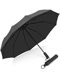Parapluie Pliant en Voyage, Bulliant Parapluie Coupe-Vent Ultra-Léger Ouverture Et Fermeture Automatique