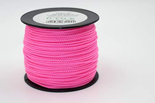 Maurerschnur pink-floureszierend - 100 m Spule - Ø 2,0 mm - geflochtenes Polypropylen - flexibel & reißfest | Richtschnur | Bauschnur