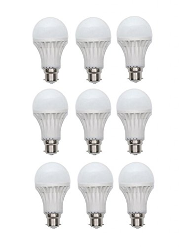 Inddus 3W Base B22 LED Bulb (white) Pack Of 9  available at amazon for Rs.535