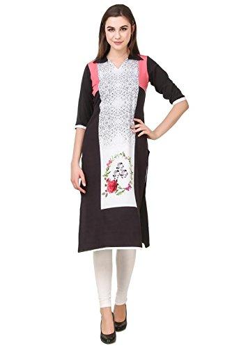 Kurtis   Designer Printed crepe kurti for women   stylish kurti   Womens Kurta by LEVAZO  available at amazon for Rs.199