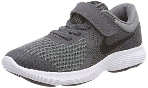 Nike revolution 4 (psv), scarpe running unisex-bambini, grigio (dark grey/black cool grey white 005), 27.5 eu