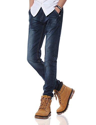 Demon&Hunter 808B Séries Pour des hommes Maigre Ample Mince Jeans DH8083