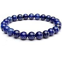 leefi Lapis Lazuli natürlicher Edelstein Herren Damen Charm Stretch Armband Handgefertigt Armreif preisvergleich bei billige-tabletten.eu