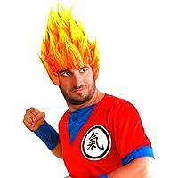 peluca llamas fuego