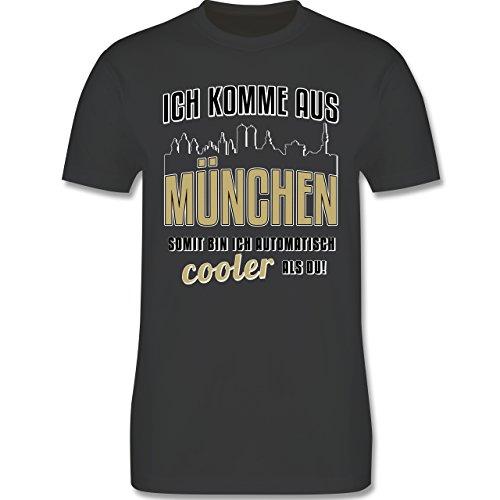 Städte - Ich komme aus München - Herren Premium T-Shirt Dunkelgrau
