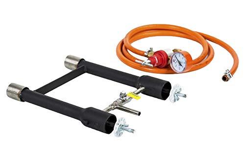 Dual Gas Brenner | Schmiede Forge | Ofen Gießerei | Propan Farrier Messer | 103 -