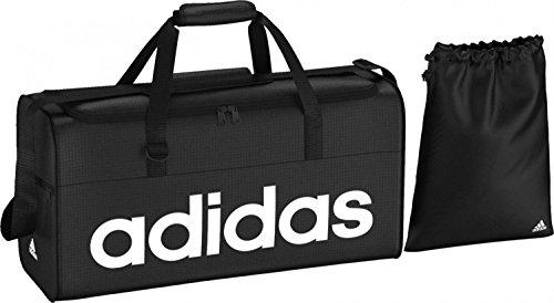 adidas Sporttasche Linear Team M, Black/White, 57 x 22 x 30 cm, 38 Liter, AJ9923