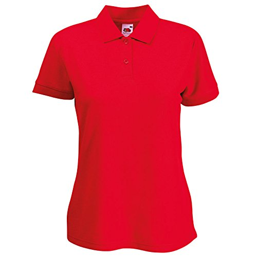 Fruit of the Loom -  Polo  - Donna Red