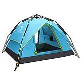 ASDAD Tente De Camping,Automatique Pop Up pour 2-4 Personnes 100% ImperméAble Protection des Rayons UV Ouverture Rapide Respirante Ventile Facile à Monter Et DéMonter