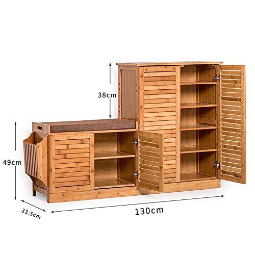 JZX Haushalt Holzschuh Rack, hohe Qualität Schuhschrank, einfache Schuh Multi-Layer Massivholz Lagerung Wohnzimmer Eingang multifunktionale Hall Kabinett Schuh, einfache Haustür Schuhregal -