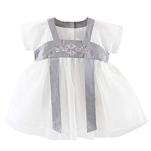 zessin Kleider Baby Kinder Bestickt Kostüm Antike Han Chinesische Strandkleid Neugeborenes Party Spielanzug Sommer Strampler Kleidung ()