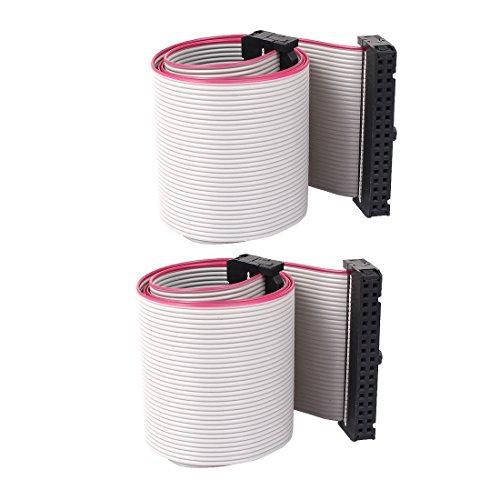 Preisvergleich Produktbild 2Stk 2, 54mm 34-Pin Buchse auf Buchse IDE PATA Verlängerung Flachbandkabel 50cm