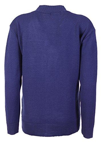 New Classic - Cardigan da donna, taglie 38-48a maglia, a maniche lunghe stile Aran Navy blue