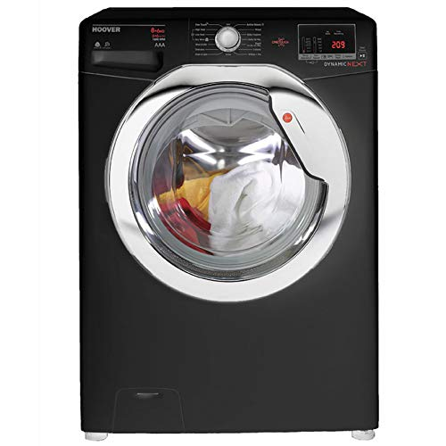 Hoover WDXOC686CB Dynamic Next Classic One Touch 8kg Wash, 6kg Dry, 1600 Spin Washer Dryer - Black